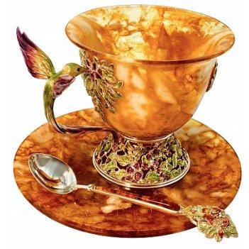 Чашка чайная колибри 4201/l (ювелирная бронза)