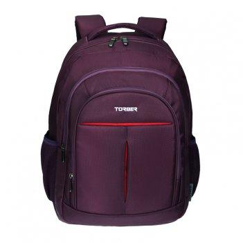 Рюкзак torber с отделением для ноутбука 15, пурпурный, полиэстер, 46 х 32