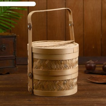Пароварка  плетёная, бамбук ванги 20x20х30см
