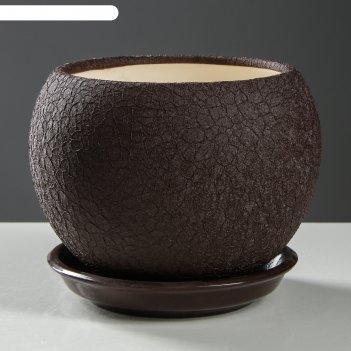 Горшок шар 1,4л шелк шоколад