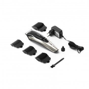 Машинка для стрижки centek ct-2124, dc -мотор, керам. ножи, 4 насадки, чер
