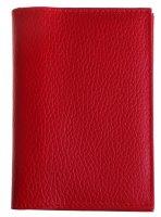 Обложка автодокументы+паспорт, натуральная кожа, красный флотер