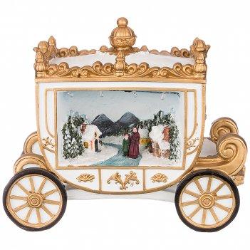 Фигурка карета с музыкой и подсветкой 22,5*11,7*18,5 см (кор=12 шт.)