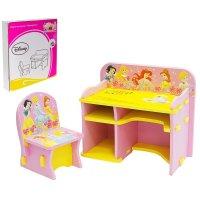 Набор детской мебели принцессы: парта со стулом