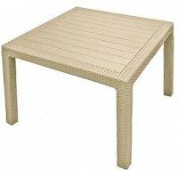 Стол melody quartet table  95 х 95 х 75 cm бежевый curver (искусственный р