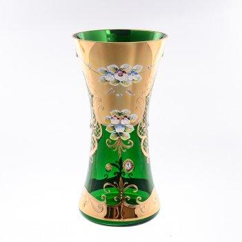 Ваза bohemia лепка зеленая e-s 30 см