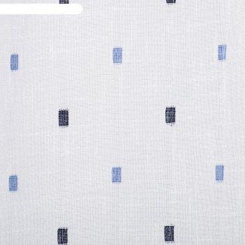 Тюль этель 135х260 см геометрия голубой 100% п/э