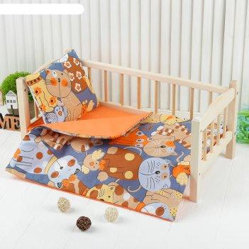 Кукольное постельноекошкипростынь 46*36,одеяло,46*36,подушка 23*17