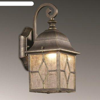 Уличный настенный светильник lartua 60вт e27 бронза
