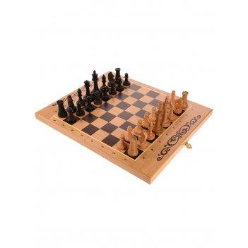 Шахматы, нарды, шашки 3в1, 40мм с фигурами