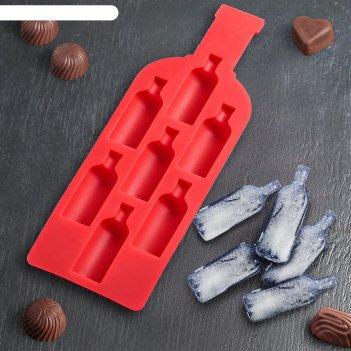 Форма для льда и кондитерских украшений доляна «бутылка», 22,5x8 см, 7 яче