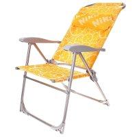 Кресло-шезлонг складное 2 сетка лимон к2