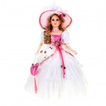 Кукла коллекционная леди лариса в розовой органзе