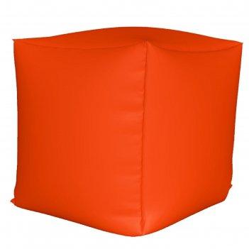 Пуфик куб мини, ткань нейлон, цвет оранжевый люмин