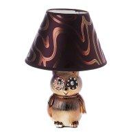 Лампа настольная бурая сова, 28 см, 220v