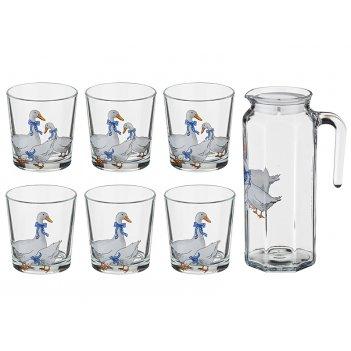 Набор для сока гуси :кувшин 1000 мл+6 стаканов 2...