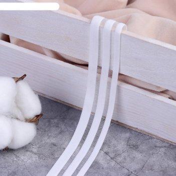 Резинка декоративная с прозрачными вставками 20мм*10±1м белый ау
