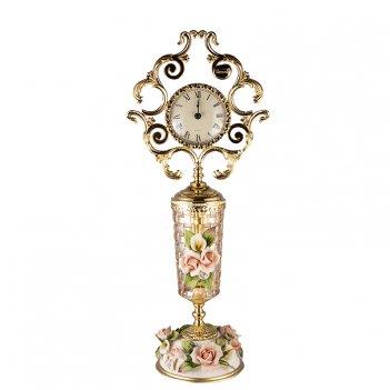 Часы настольные  розаперла