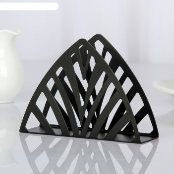 Салфетница пирамида, цвет чёрный