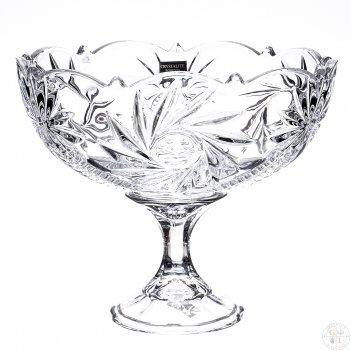 Конфетница на ножке crystalite bohemia pinwheel 22 см
