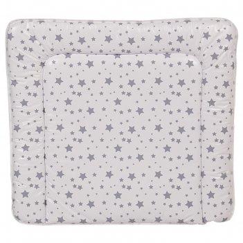 Доска пеленальная polini kids «звезды» мягкая на комод, 77х72 см, цвет бел