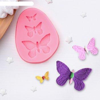 Форма для украшения кондитерских изделий бабочки 7,5*6*1 см