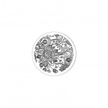 Трафарет металлический для стемпинга tnl малый, тропическая лилия