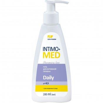 Гель для интимной гигиены intimo+med daily, ph 4,5, для ежедневного ухода,