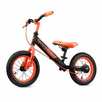 Детский беговел с надувными колесами и тормозом small rider ranger 2 neon