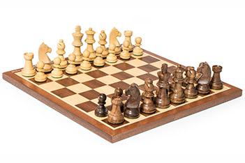 Шахматы классические, фигуры самшит и палисандр, король 7см