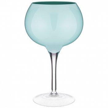Декоративная ваза на ножке globo acqua высота 40см диаметр 24см
