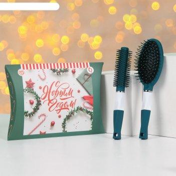 Подарочный набор «новый год - фея», 3 предмета: открытка, брашинг, массажн