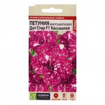 Семена цветов  петуния дот стар кассиопея, многоцветковая, f1, 5 шт