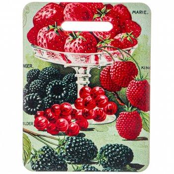 Подставка под горячее доска разделочная ягоды 15*20 см
