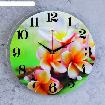 Часы настенные, серия: цветы, цветки, 30х30 см