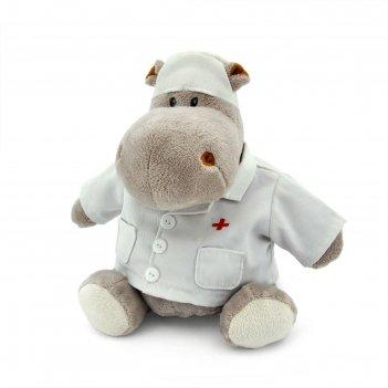 Мягкая игрушка «бегемот любимый доктор», 20 см