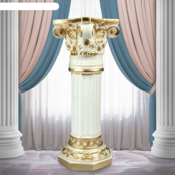 Колонна акрополь высокая золото 75 см