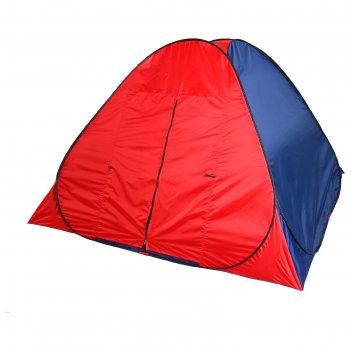 Палатка самораскрывающаяся 200 х 200 х 135 см, красный/синий