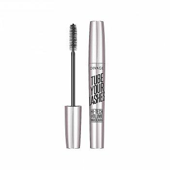 Тушь для ресниц divage tube your lashes № 01 с микрокапсулами для удлинени