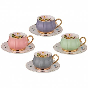 Чайный набор на 4 персоны 8 пр. lefard времена года 200 мл микс (кор=8наб.