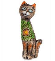 Kk-150 фигурка кот-южные цветы шамот