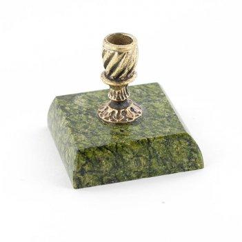 Подсвечник церковный камень змеевик
