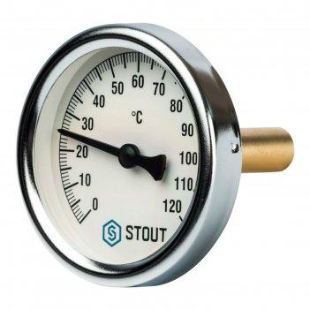 Термометр stout, биметаллический, с погружной гильзой 50 мм 1/2, корпус dn