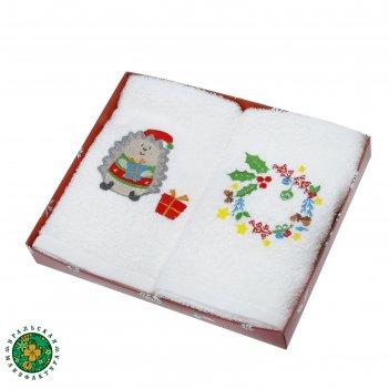 Набор полотенец с вышивкой collorista сочельник (вид2) 30 х 60 см- 2 шт, х
