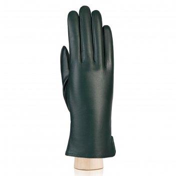 Перчатки женские, размер 8, цвет тёмно-зёленый