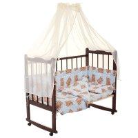 Комплект в кроватку 7 предмета сони голубой 10704