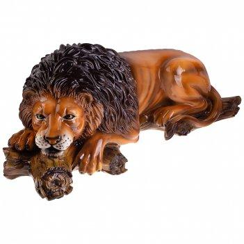 Декоративное изделие лев на коряге 95*40 см. высота=36 см.