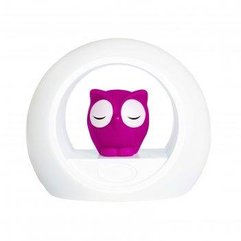 Ночник детский с датчиком звука «сова лу», цвет розовый, 0+