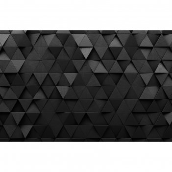Фотобаннер 300 х 200 см, с фотопечатью чёрные треугольники