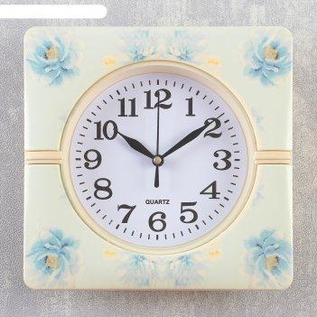 Часы настенные, серия: классика, соцветие, 19х19х3 см